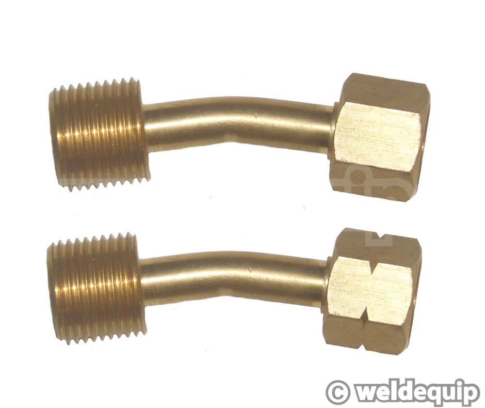 Gas hose adaptors bent type weldequip
