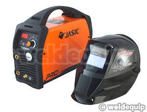 Jasic 200P ACDC TIG with helmet for scale